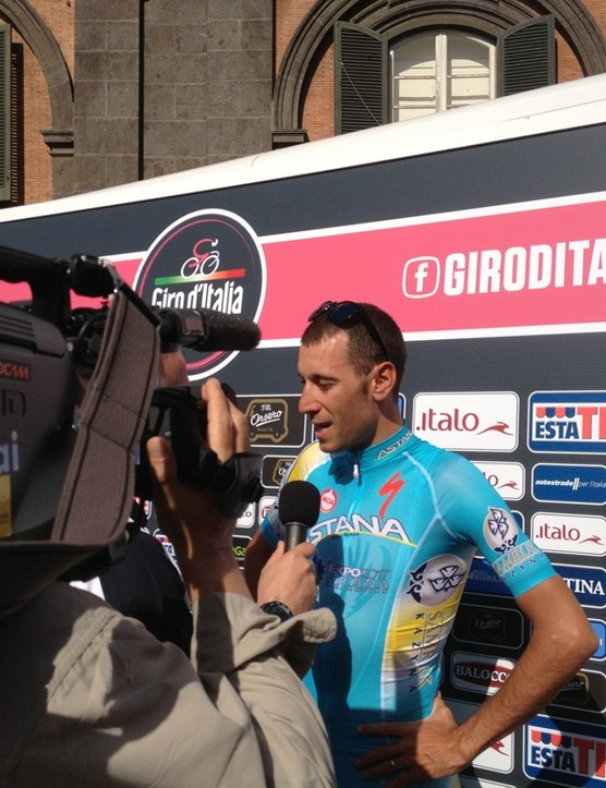 Astana's Vincenzo Nibali is the home nation's favourite for the win this year and was a man in demand with the press