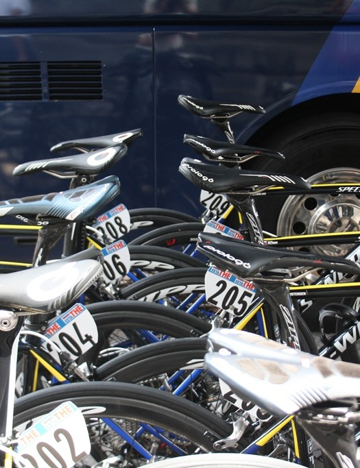 There's an array of Prologo saddles for Team Saxo-Tinkoff riders to choose from