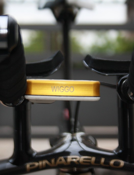 Wiggo in gold – referencing his medal success at the 2012 Olympic games in the road TT