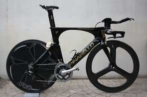 The Pinarello Bolide: 15 percent less drag and 5 percent lighter than the Graal, say the test figures`