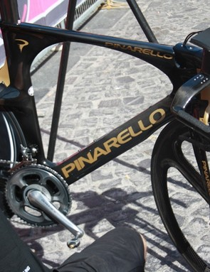 The Pinarello Bolide Team Sky prepared for the race was put to one side as Wiggins opted to ride his backup Graal