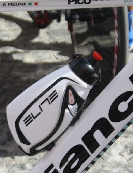 Androni Giocattoli was using an Elite time trial bottle and cage