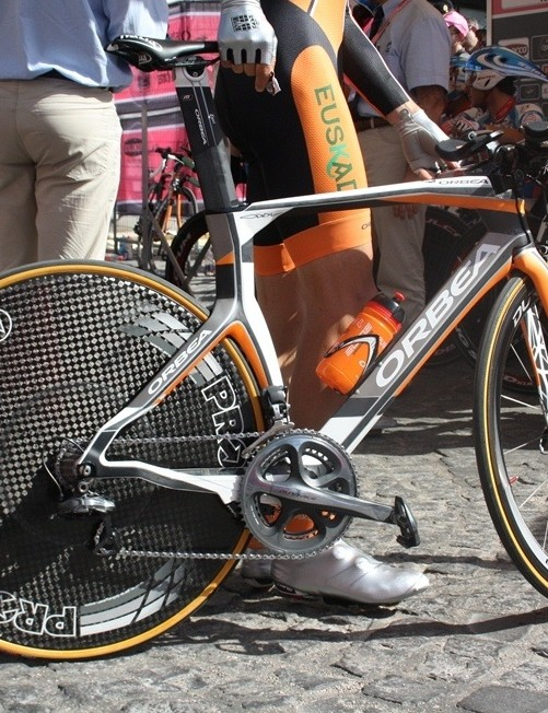 The new Orbea Ordu TT bike, which was four years in development and released in 2013, is Euskaltel-Euskadi's new time trial bike