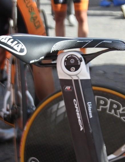 Selle Italia's Monolink SLR Friction Free saddle almost set right back
