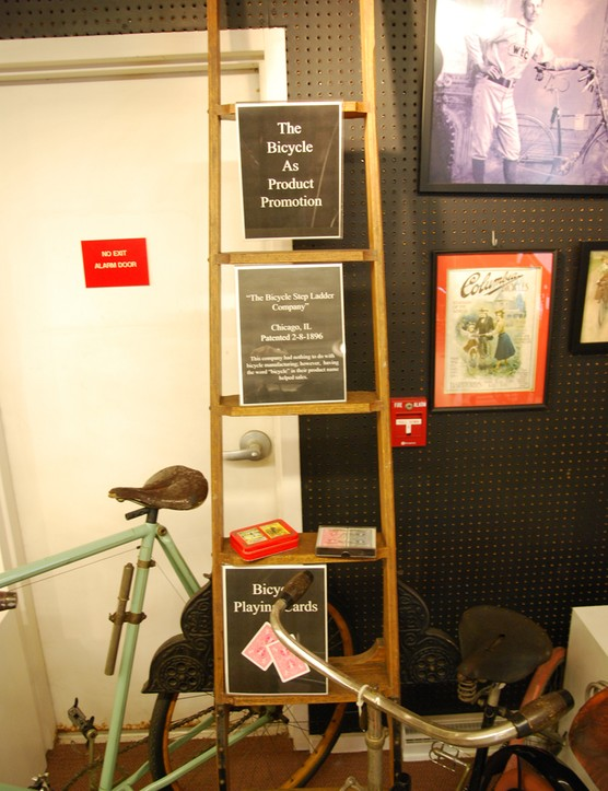 "Various ""bicycle"" related accessories including the ladder!"