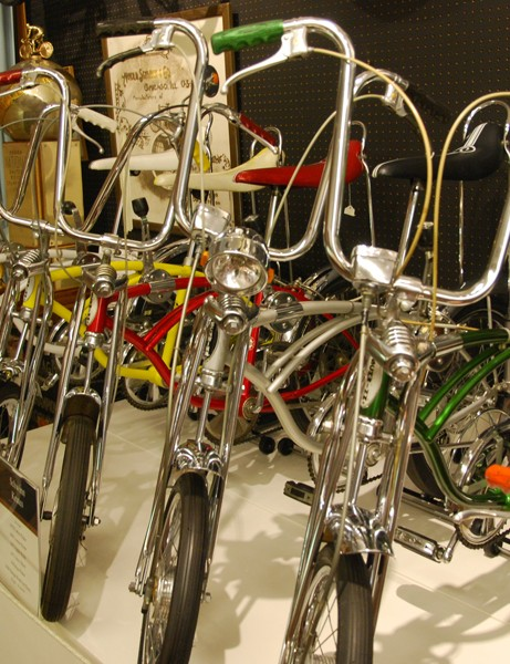 A collection of 1960-70s era Schwinn Stingrays
