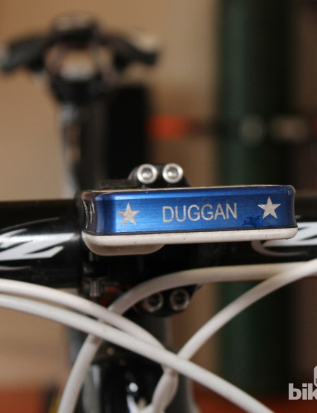 Timmy Duggan is the 2012 US national champ and a 2012 Olympian. This custom SRM PowerControl 7 was for the latter, but goes well with his US national champ kit