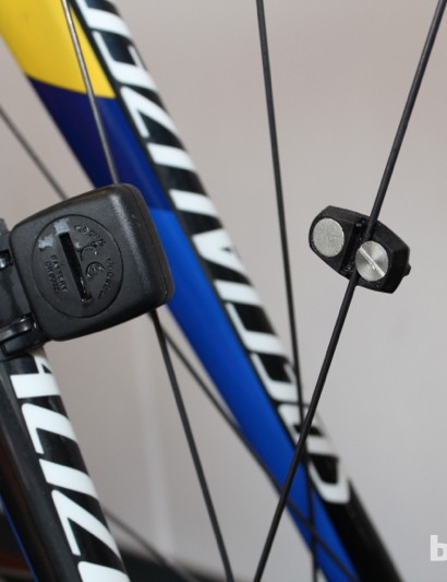SRM uses a tried-and-true wheel magnet for speed and distance