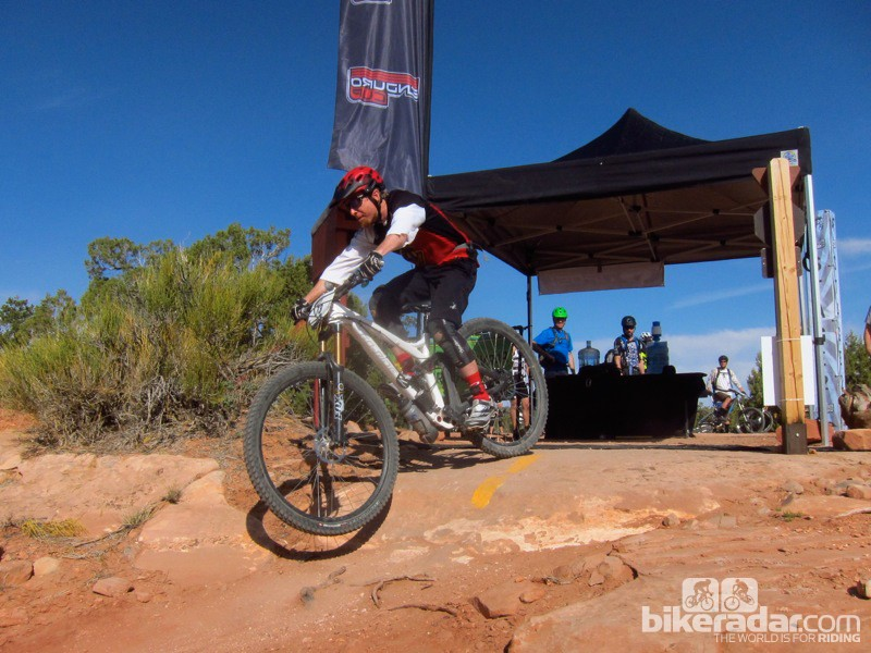 Go Ride's Kris 'Krispy' Baughman was one of many who opted to race a 29er