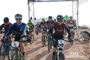 The pro/open women were all smiles from the neutral starting stage to the finish of the Mag 7 Enduro Cup