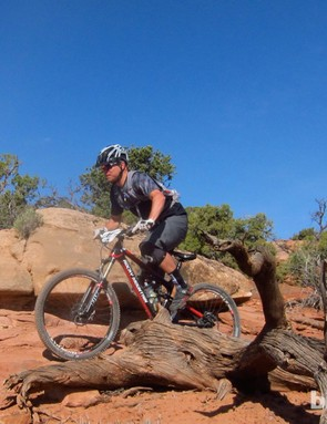 Pearl Izumi's product manager, Tony Torrance, was out doing a bit of mountain bike wear recon, and a bit of racing