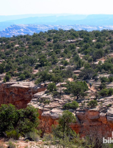 The Enduro's first timed stage took place on Mag 7's Bull Run, which offered quintessential Moab views