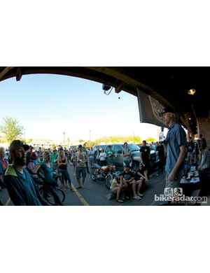Race director Dan Roper set the fun and casual vibe at the mandatory riders' meeting