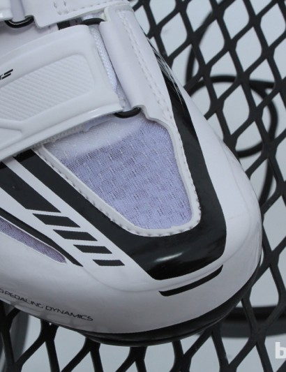 Mesh panels allow for breathability - and show the color of your socks underneath