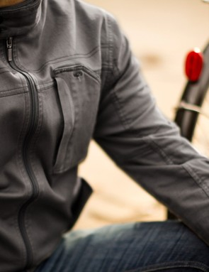 The Jackson Jacket is made of cotton and spandex