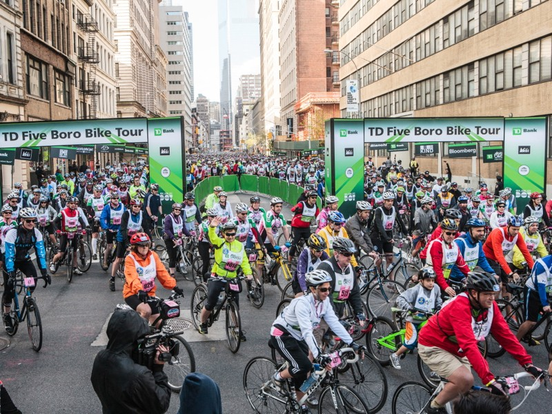 The TD Five Boro Bike Tour celebrated its 36th year this year