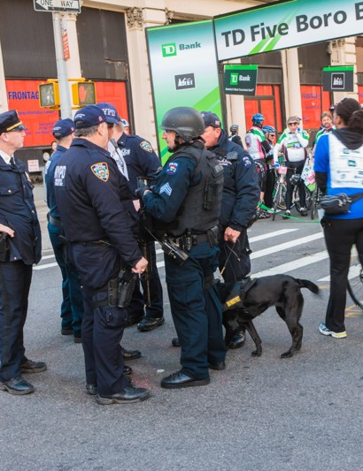 With the Boston Marathon attack in recent memory, security was on high alert, and the event held a moment of silence before the start