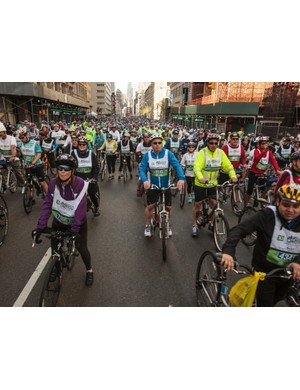 The ride began in Manhattan, on streets closed to traffic