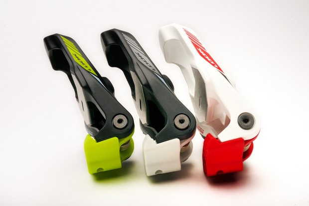 Look Keo 2 Max in green, grey and red and white