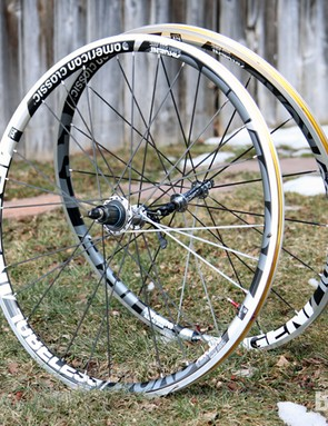 American Classic's Argent Road Tubeless wheels are light, at sub-1,400g, yet impressively solid, with a healthy 19.4mm internal width