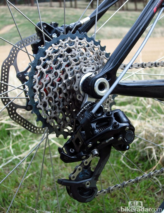 Impressively, Diamondback has fitted both ends of the new Overdrive Carbon with thru-axles