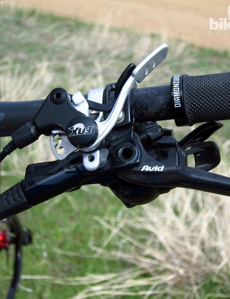 The Fox fork on the Diamondback Overdrive Carbon Pro includes the company's new CTD remote lever