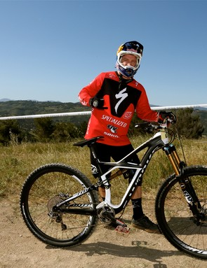 Aaron Gwin took the downhill win on his Specialized Enduro 29er
