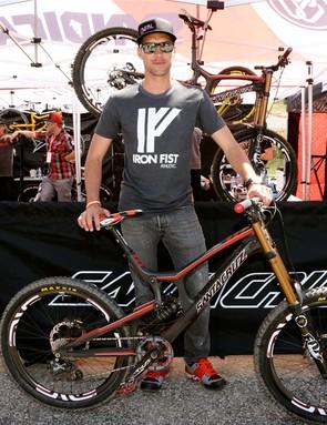 Greg Minnaar finished fifth on his Santa Cruz Carbon V10
