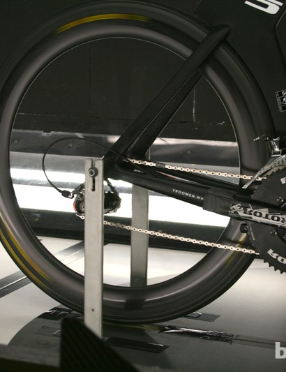 Getting the wheels rolling via the mechanism built into Mavic's balance