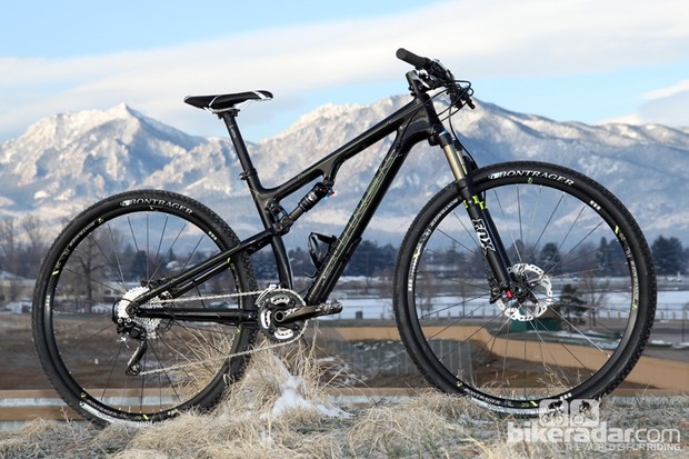 Trek has shaved considerable weight from its Superfly 100 platform with a sleeker carbon fiber frame