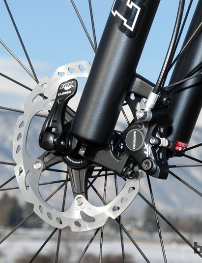 The Deore XT brakes provide heaps of stopping power, even with 160mm rotors front and rear. The inclusion of finned Ice-Tech pads would have been nice, though