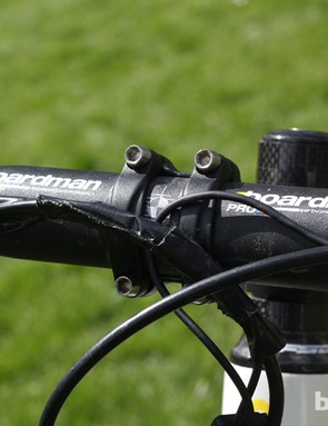 The cockpit is made up of a Boardman Pro bar and stem