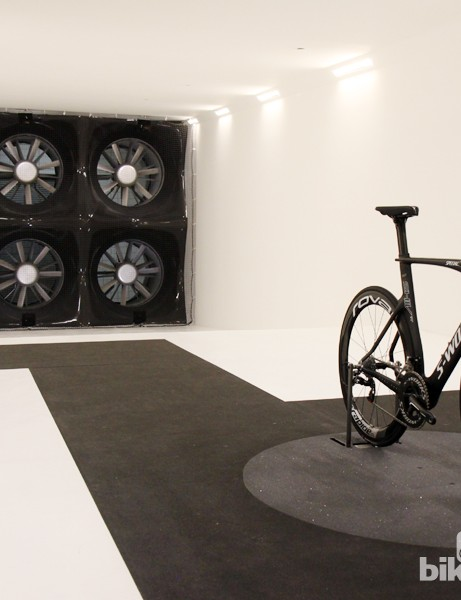 Specialized's in-house wind tunnel - an industry first