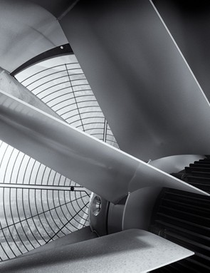 An inside look at a fan
