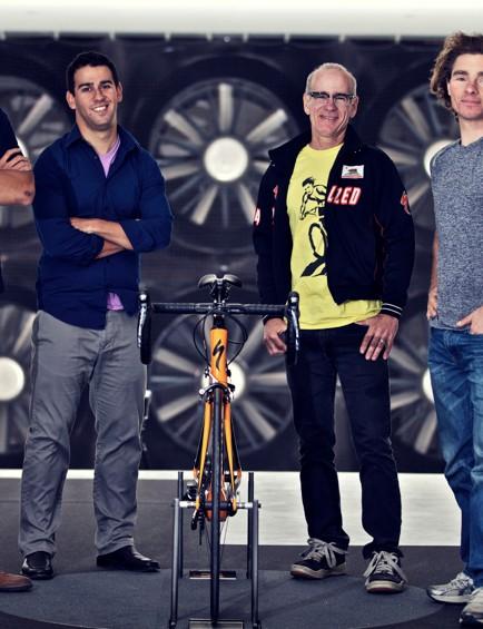 The aero team (L-R): Yu, Cote, Teixeira and D'Alusio
