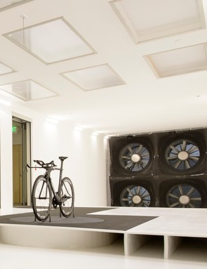 The modern tunnel can house a number of bikes and riders