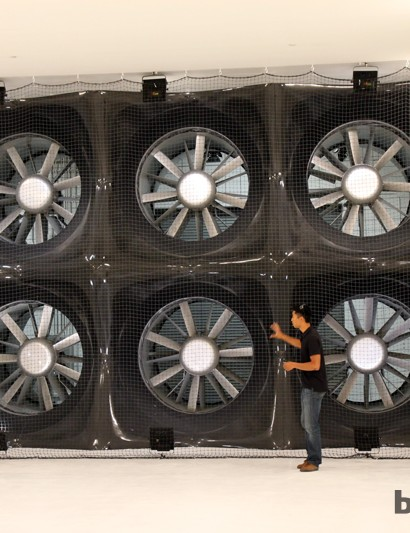 Rather than use one giant custom-made fan, Specialized instead opted for six off-the-shelf fans for easier serviceability
