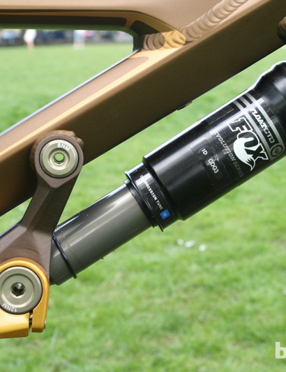 Orbea have chosen a Fox Float CTD shock to take care of hits at the rear
