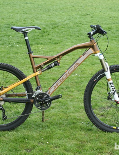 The 26in-wheeled Orbea Occam H30 in gold/brown