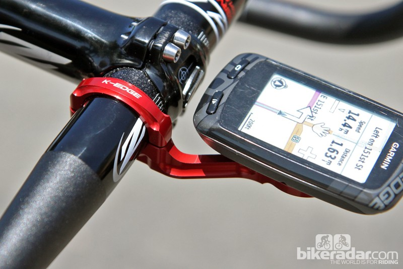 Due in July, K-Edge's new mount for later Garmin Edge computers will feature a sleeker two-piece aluminum design plus a novel dual-material interface