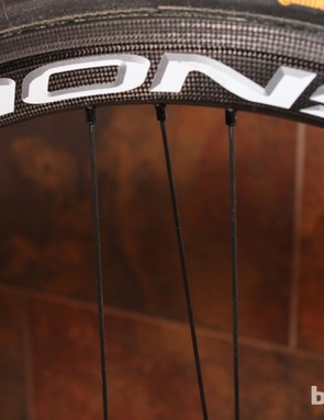 The Bora Ultra 35 features Campy's three-spoke configuration on the rear