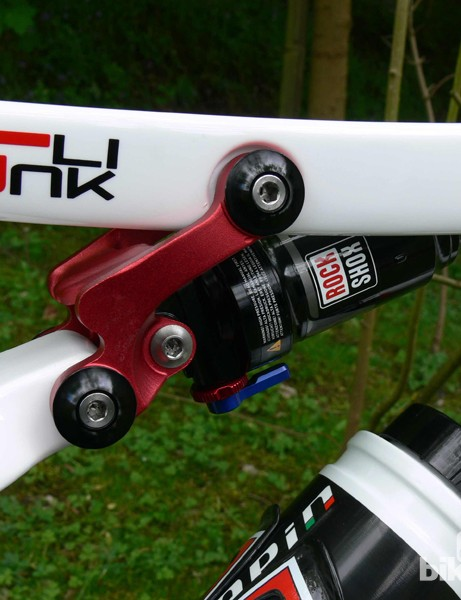 The Morgan's single pivot suspension provides 100mm of rear wheel travel