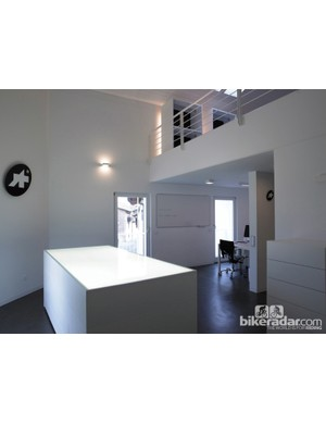 In true Swiss fashion, Assos' design rooms are nearly sterile in their cleanliness