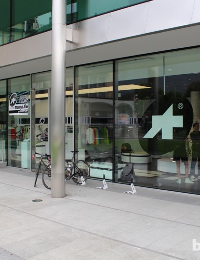Assos recently opened a showroom right across from Lake Lugano