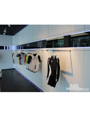 The Lugano showroom has two floors. This upper room is for display only