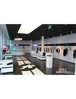 Following a Frankfurt concept store in 2009, Assos opened this Lugano showroom in 2010, followed by another in Tel Aviv