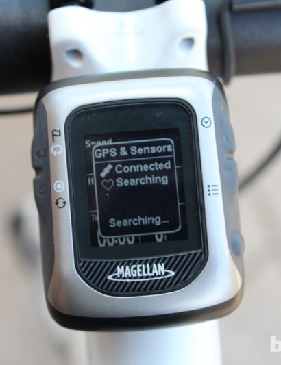 When outside, the Magellan Switch Up pairs with ANT+ heart rate straps and power meters within 3 or 4 seconds. BikeRadar's second test unit also consistently found a GPS signal relatively quickly, usually within 20 seconds. Many GPS units take more than a minute or two