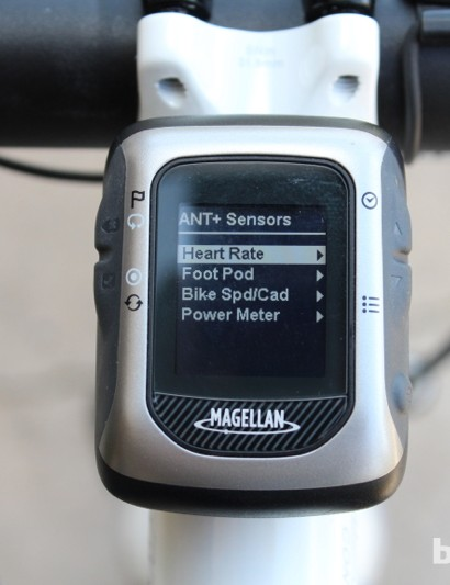 The Magellan Switch Up functions competently without ANT+ sensors, offering speed- and distance-related information based on GPS. But it really shines when connected with heart rate and power information sources