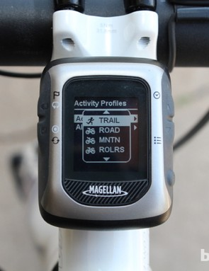 We created a 'rollers' profile that showed power, heart rate, and time, but no speed or GPS information