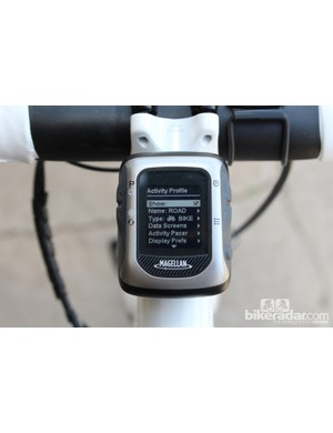 For the road bike setting, we set up four different screens of information